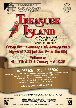 Dawlish Rep Poster Treasure Island SML